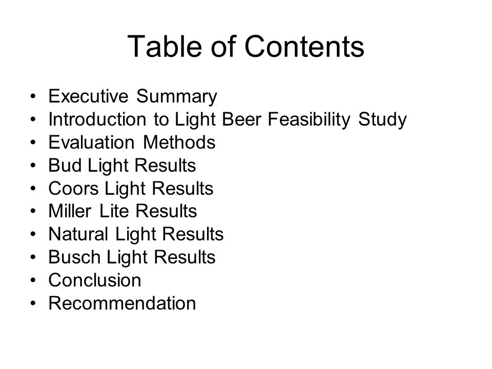 Feasibility analysis executive summary for a