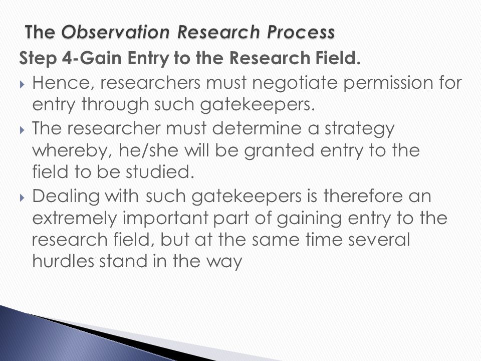 essay on observation method in social research Social research methods/indexes, scales data into a scale is influenced by the observation of the sample sampling method usually used in social research.