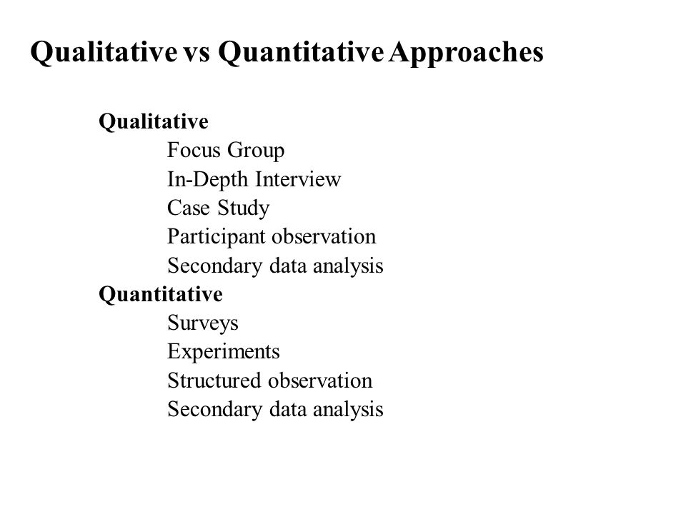 Qualitative VS Quantitative Research - Essay Example