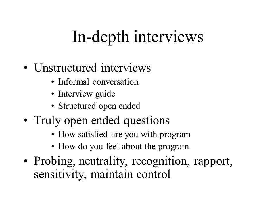 In depth interview questions