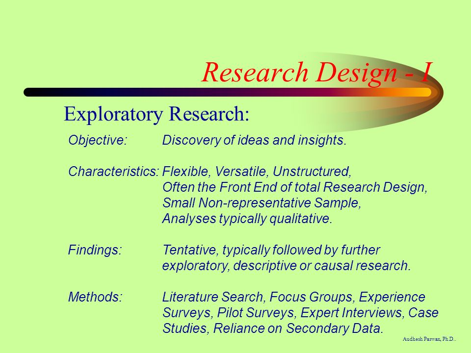 Exploratory research paper example