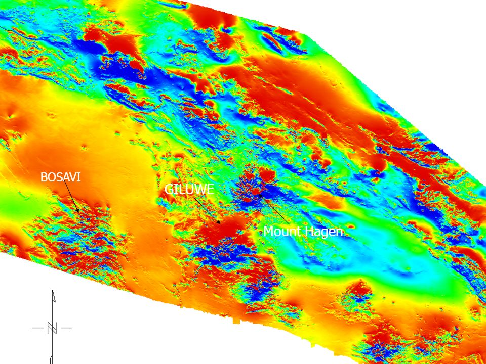 TMI magnetic of Area 1 GILUWE Mount Hagen BOSAVI