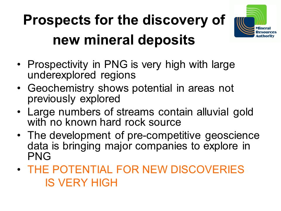 Prospects for the discovery of new mineral deposits