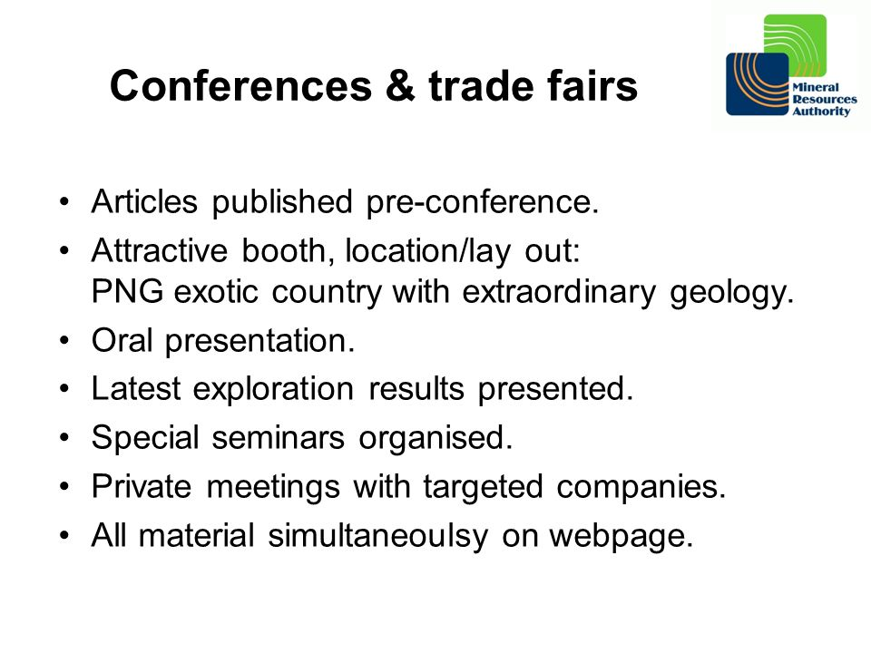 Conferences & trade fairs