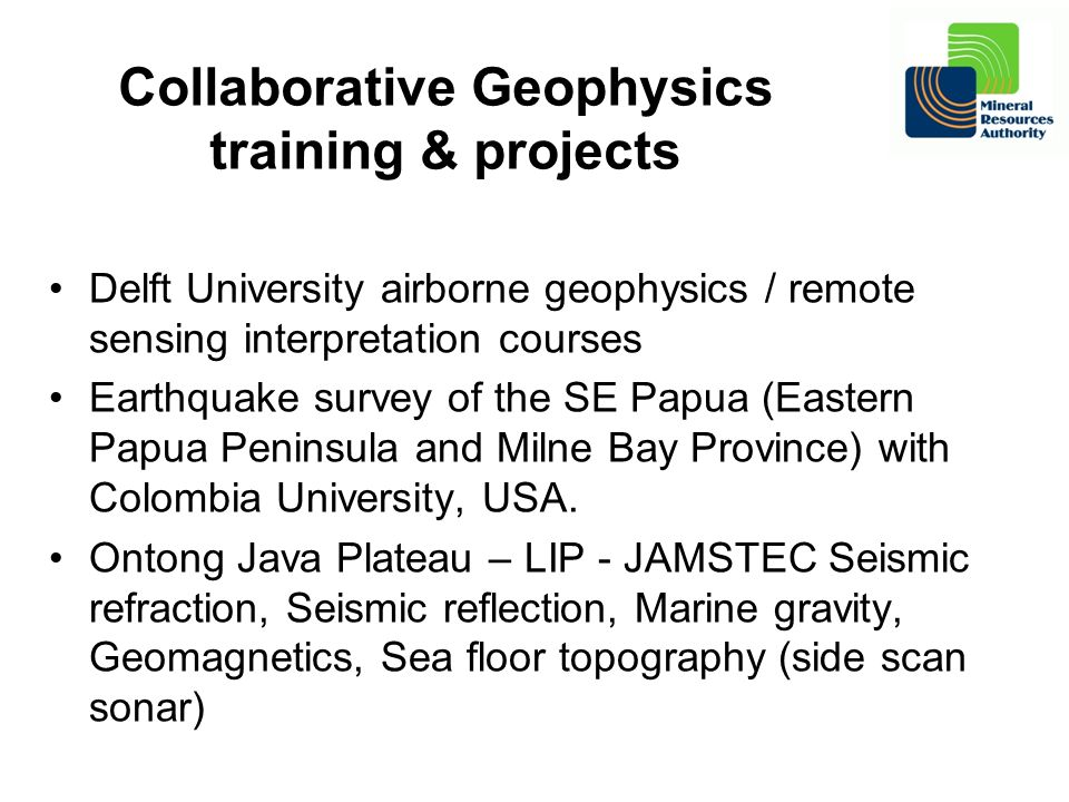 Collaborative Geophysics training & projects