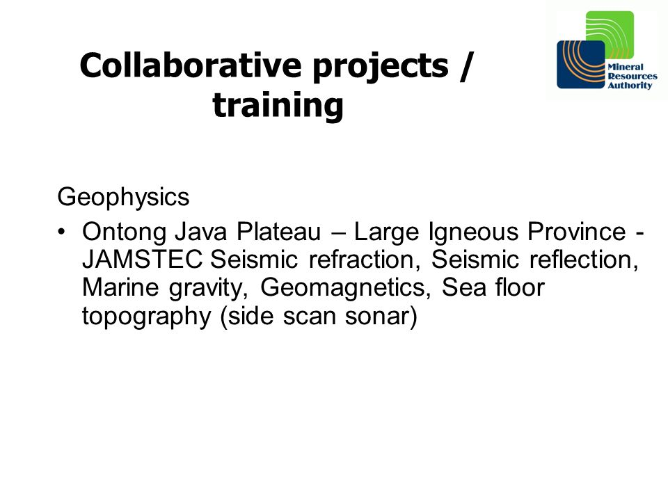 Collaborative projects / training