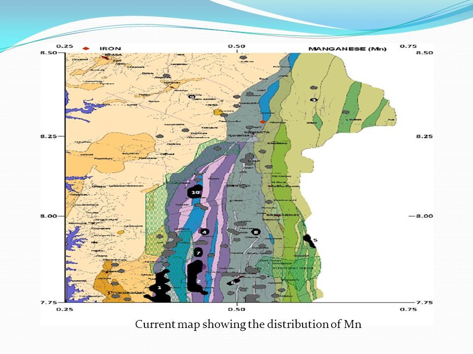 Current map showing the distribution of Mn