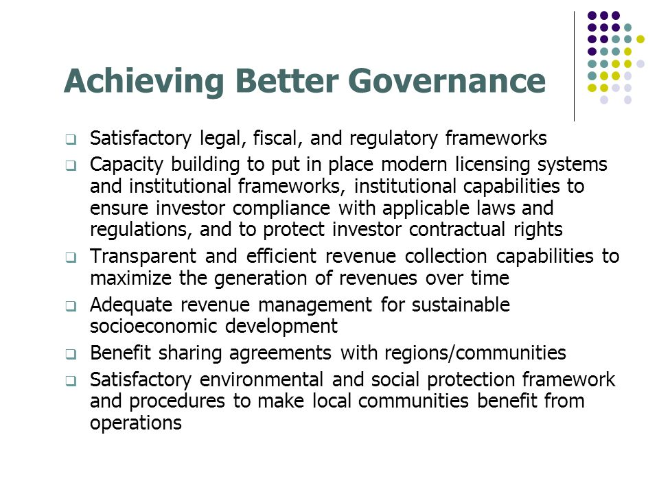 Achieving Better Governance