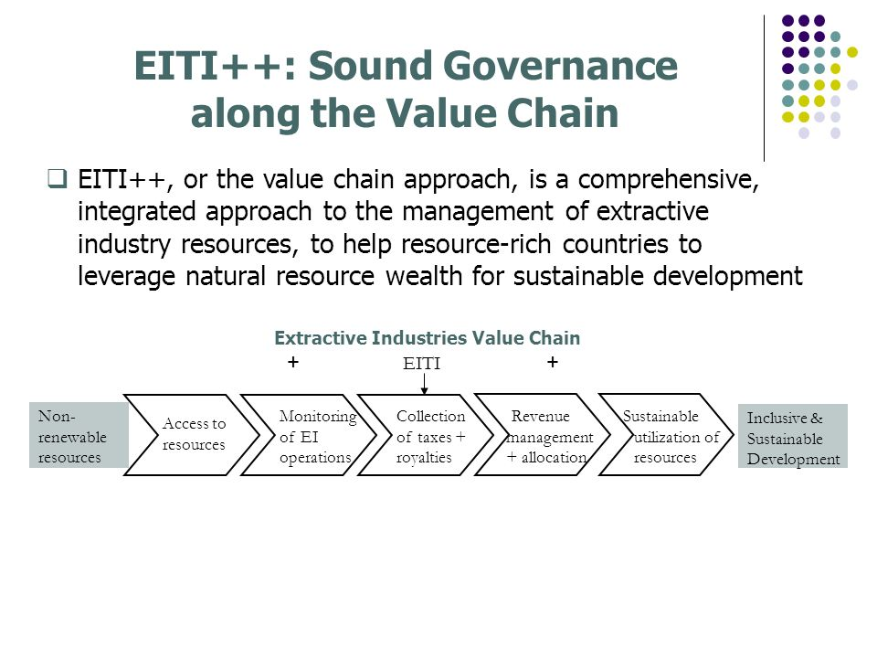 EITI++: Sound Governance along the Value Chain