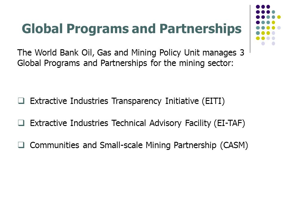 Global Programs and Partnerships