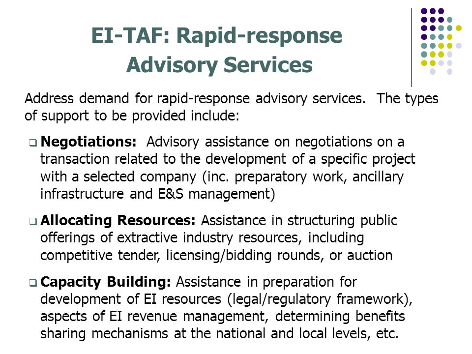 EI-TAF: Rapid-response