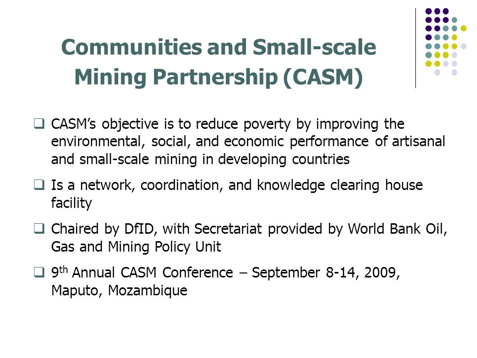 Communities and Small-scale Mining Partnership (CASM)