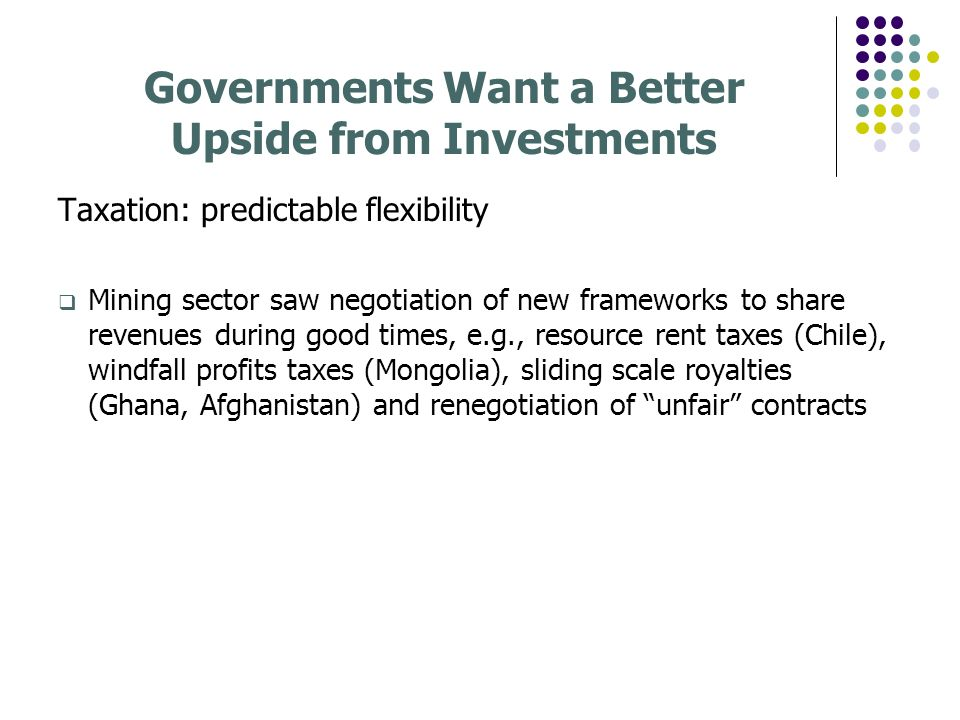 Governments Want a Better Upside from Investments