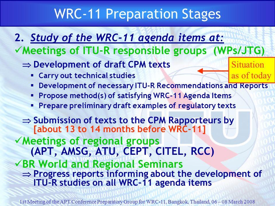 WRC-11 Preparation Stages
