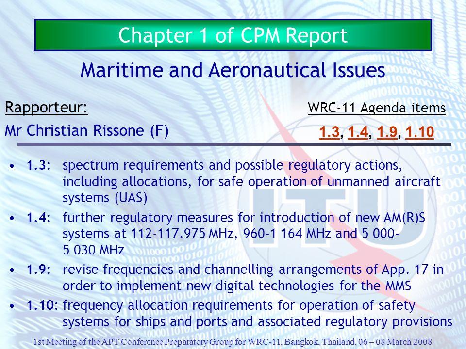 Maritime and Aeronautical Issues