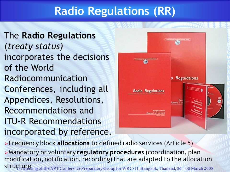 Radio Regulations (RR)