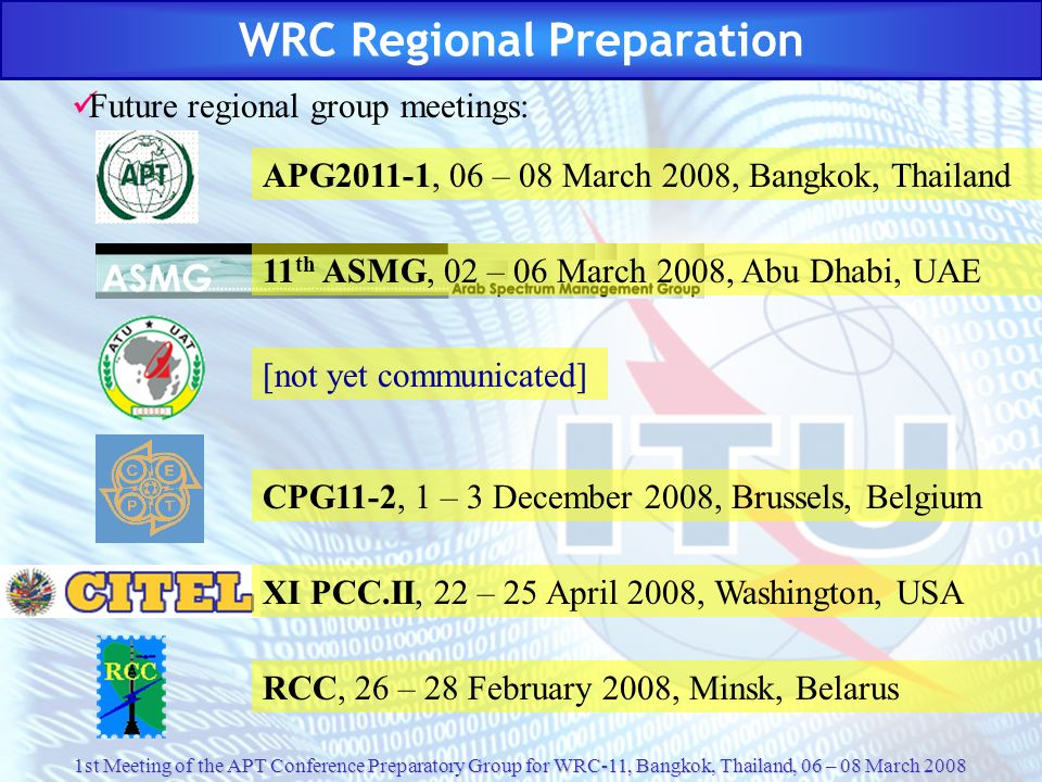 WRC Regional Preparation