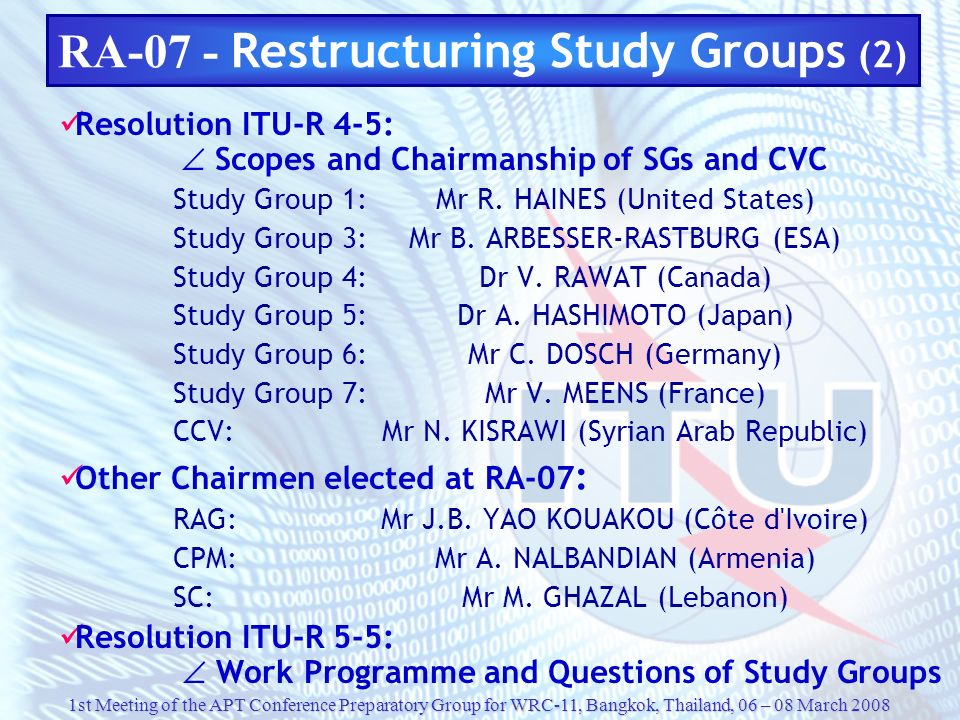 RA-07 - Restructuring Study Groups (2)