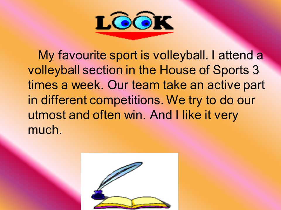 my favorite sport essay volleyball All nonfiction bullying books academic author interviews celebrity interviews college articles college essays educator of the year heroes interviews memoir personal experience sports travel & culture basketball is my favorite sport of all-time.