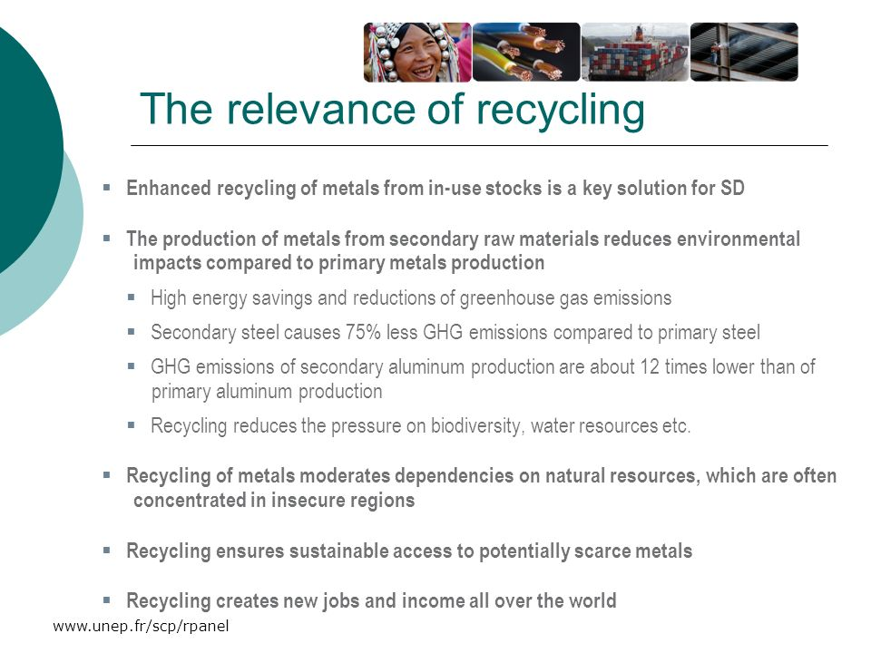 The relevance of recycling