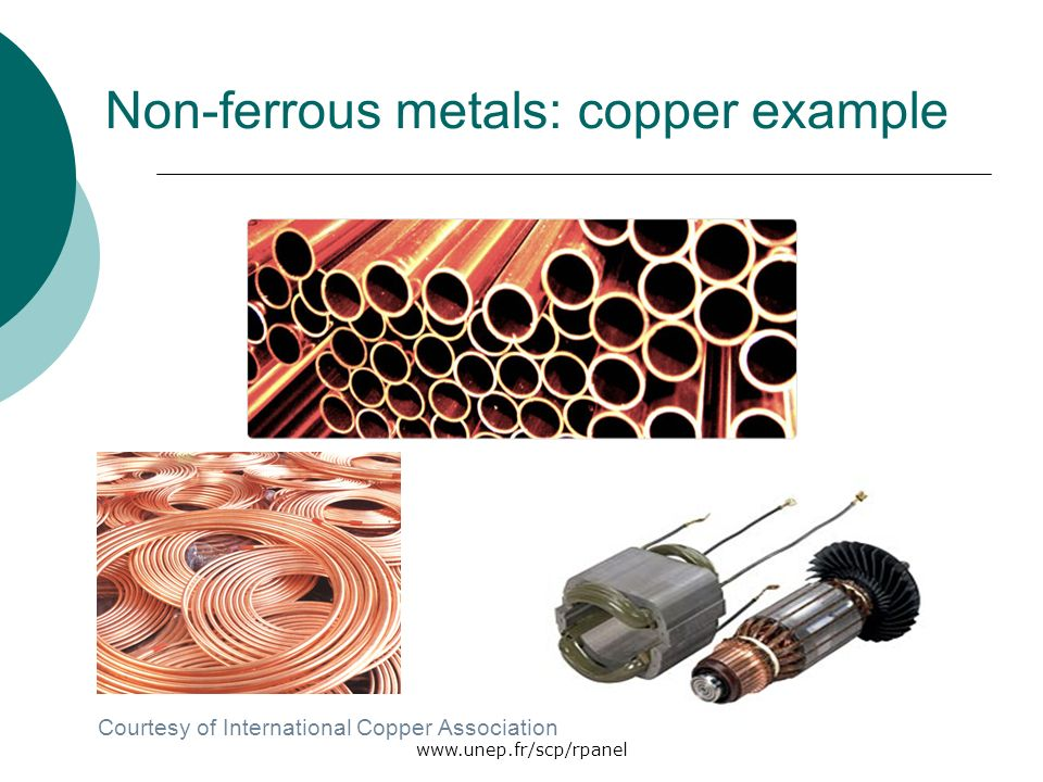 Non-ferrous metals: copper example