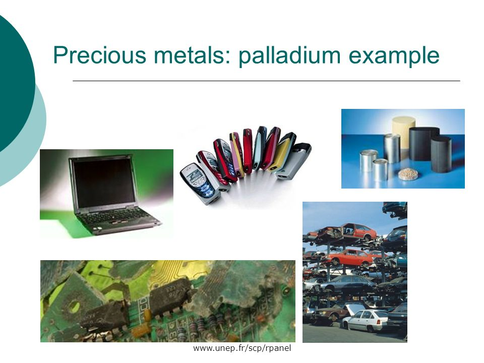 Precious metals: palladium example