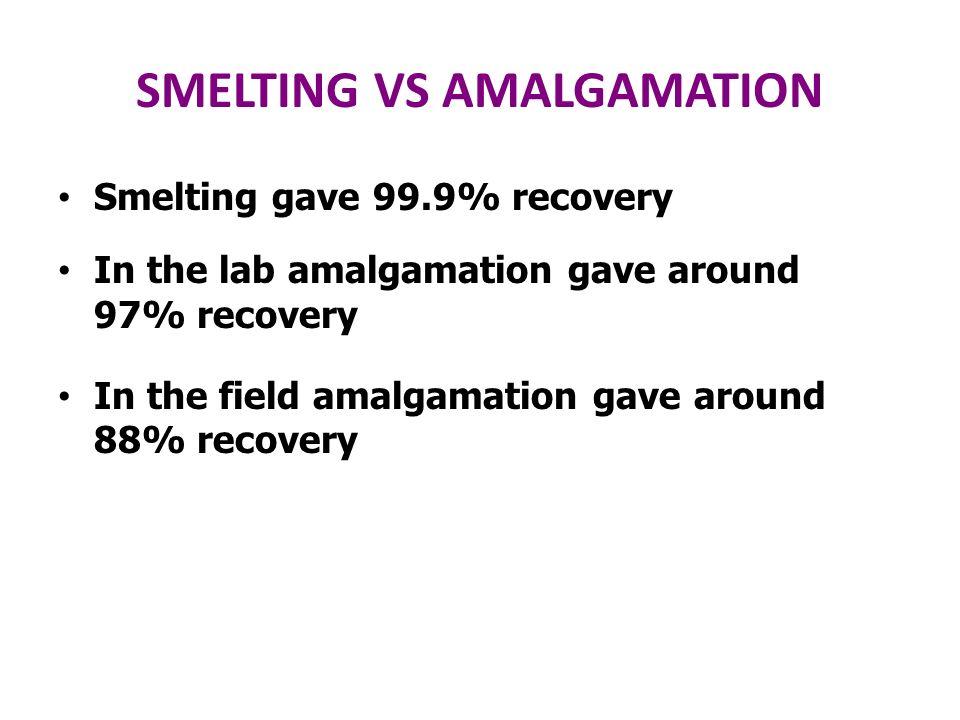 SMELTING VS AMALGAMATION