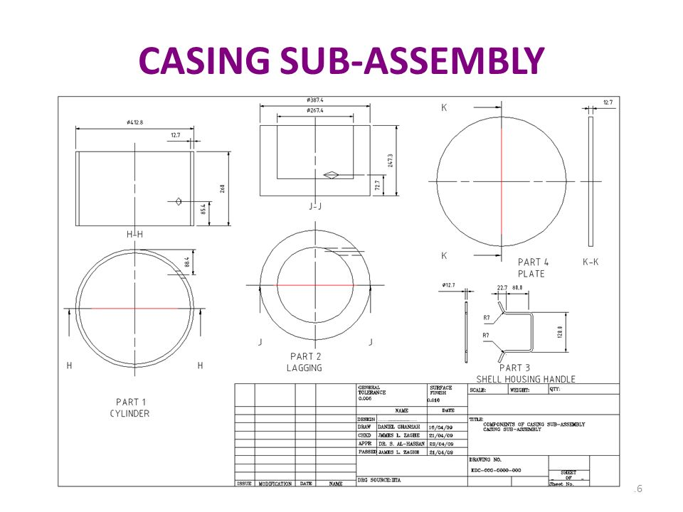 CASING SUB-ASSEMBLY 46 46