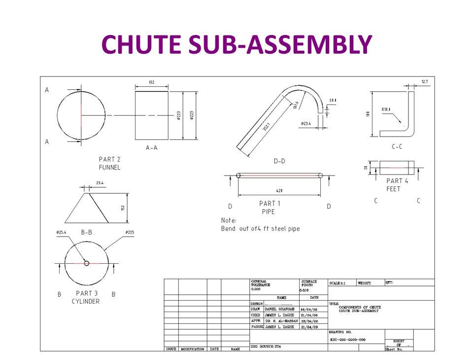 CHUTE SUB-ASSEMBLY 47 47