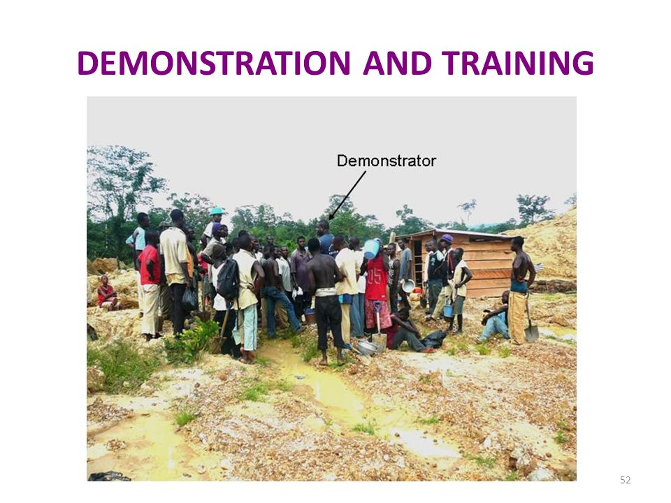 DEMONSTRATION AND TRAINING