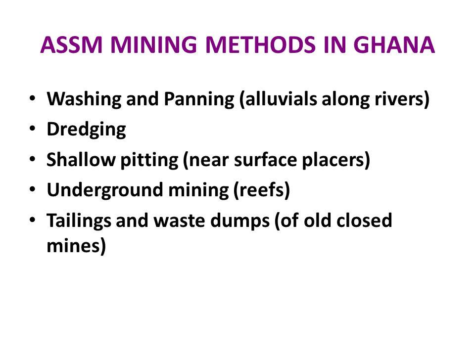 ASSM MINING METHODS IN GHANA