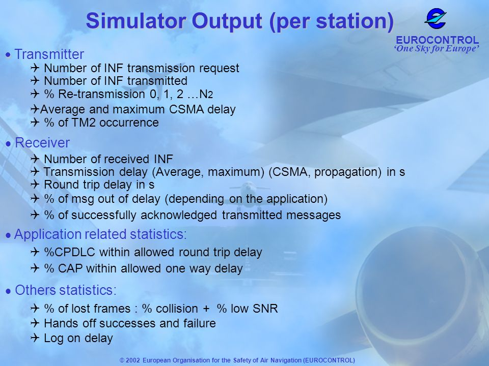 Simulator Output (per station)