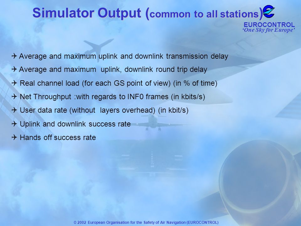 Simulator Output (common to all stations)