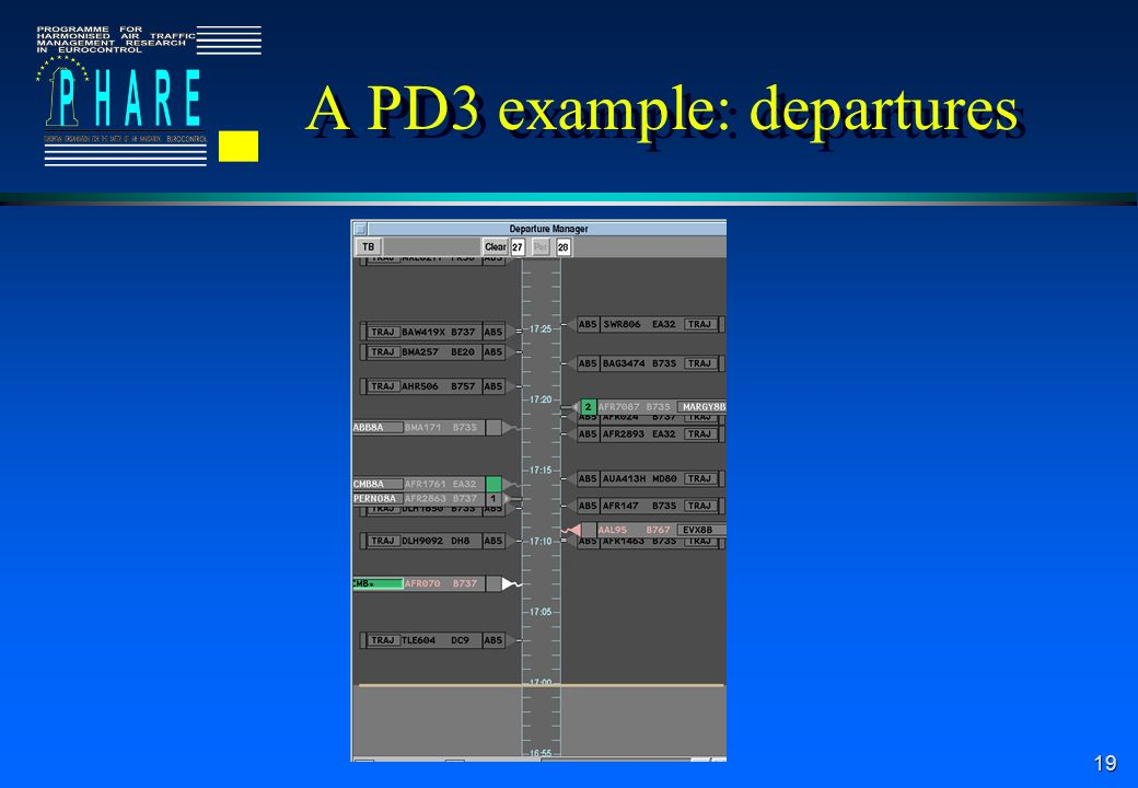 A PD3 example: departures