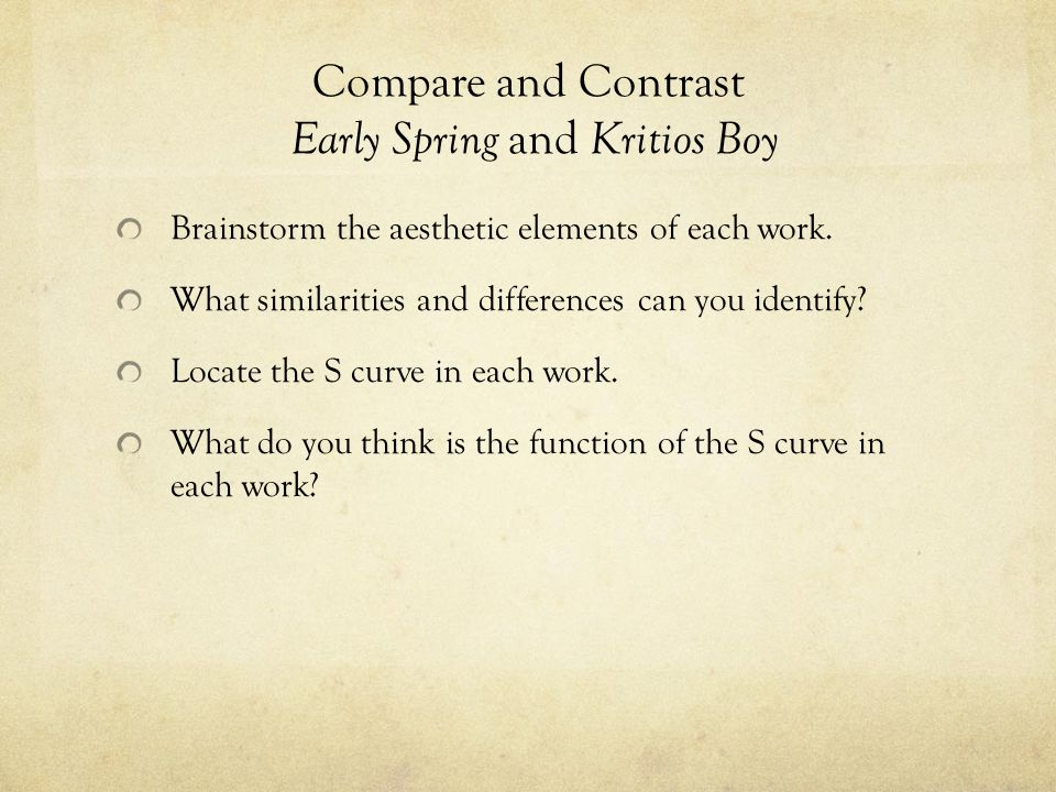 compare and contrast the works and This type of essay can be really confusing, as balancing between comparing and contrasting can be rather difficult check out our compare and contrast essay samples to see how to write.