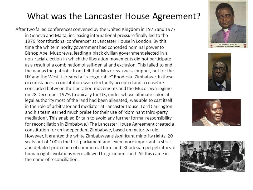 What do you know about this war so far when was the war ppt what was the lancaster house agreement platinumwayz
