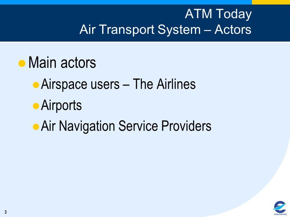 ATM Today Air Transport System – Actors