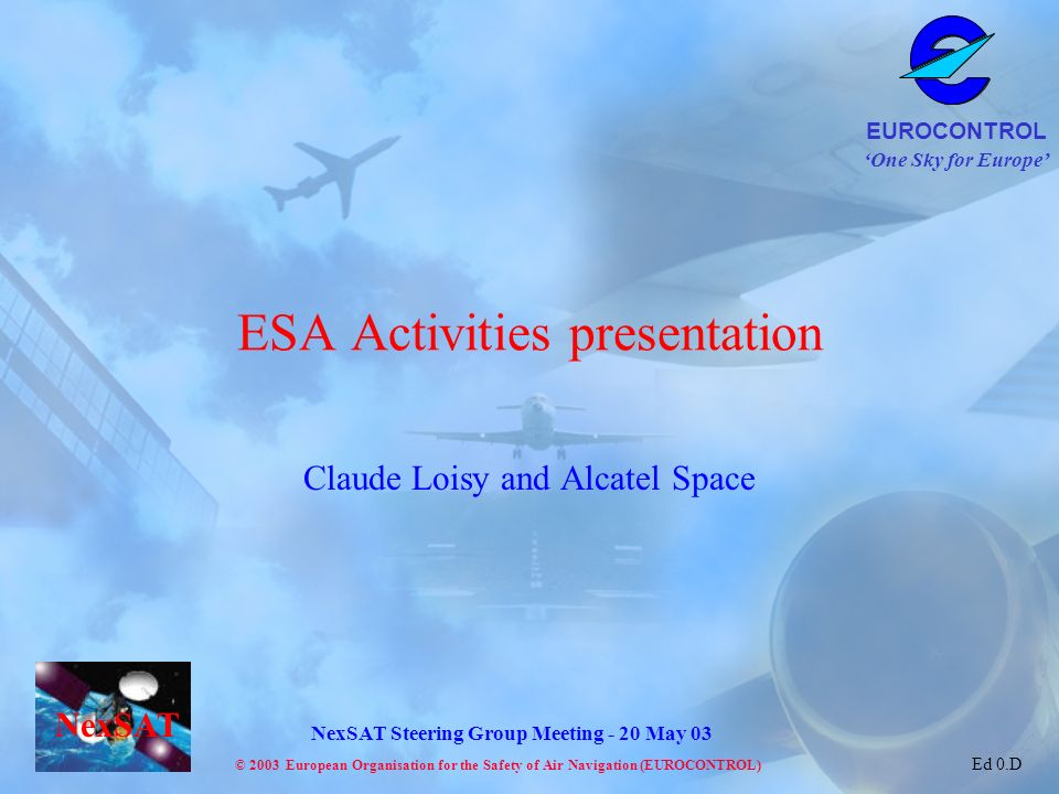 ESA Activities presentation