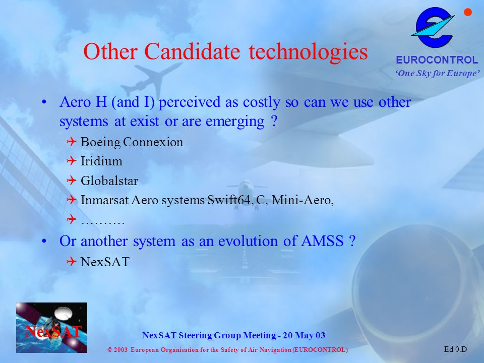 Other Candidate technologies