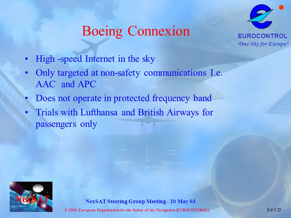 Boeing Connexion High -speed Internet in the sky