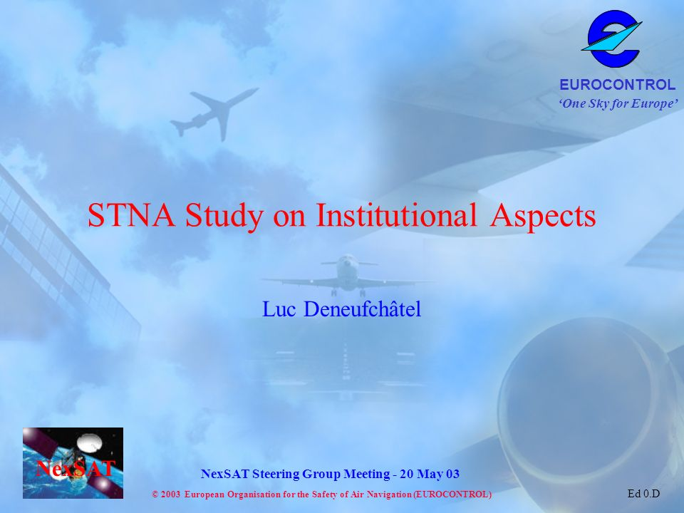 STNA Study on Institutional Aspects