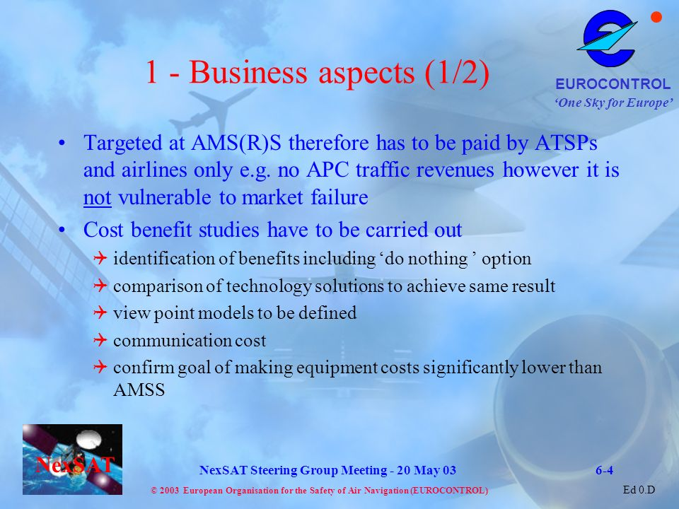 1 - Business aspects (1/2)