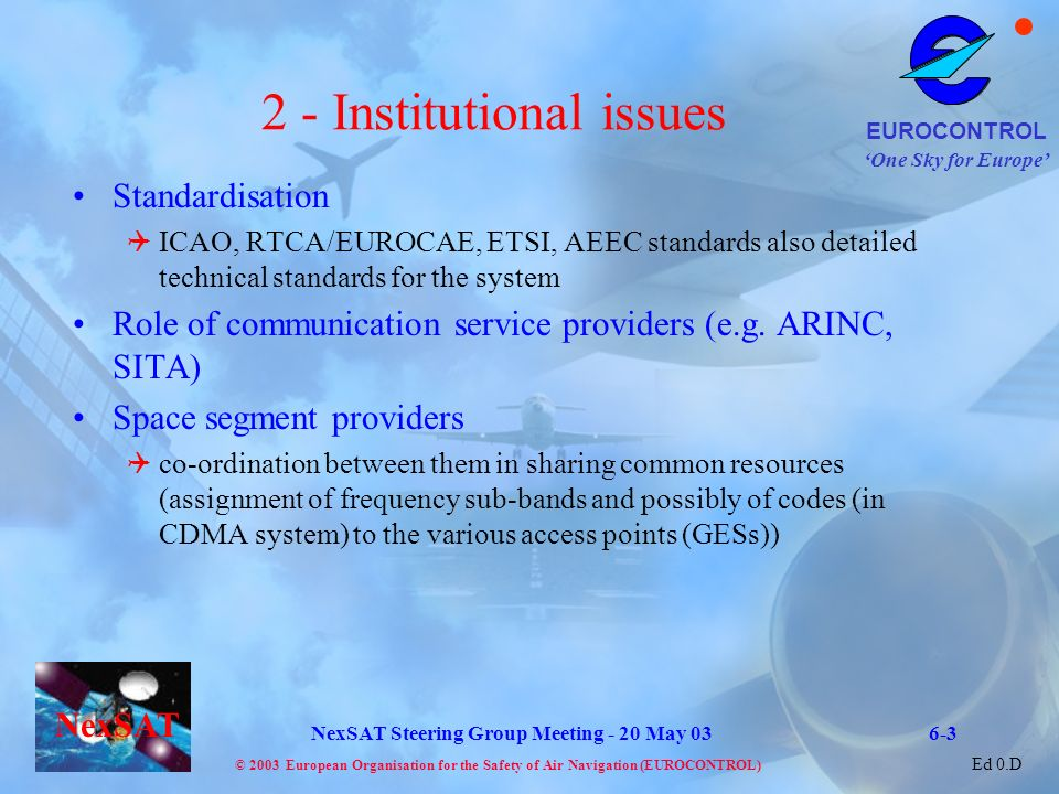 2 - Institutional issues