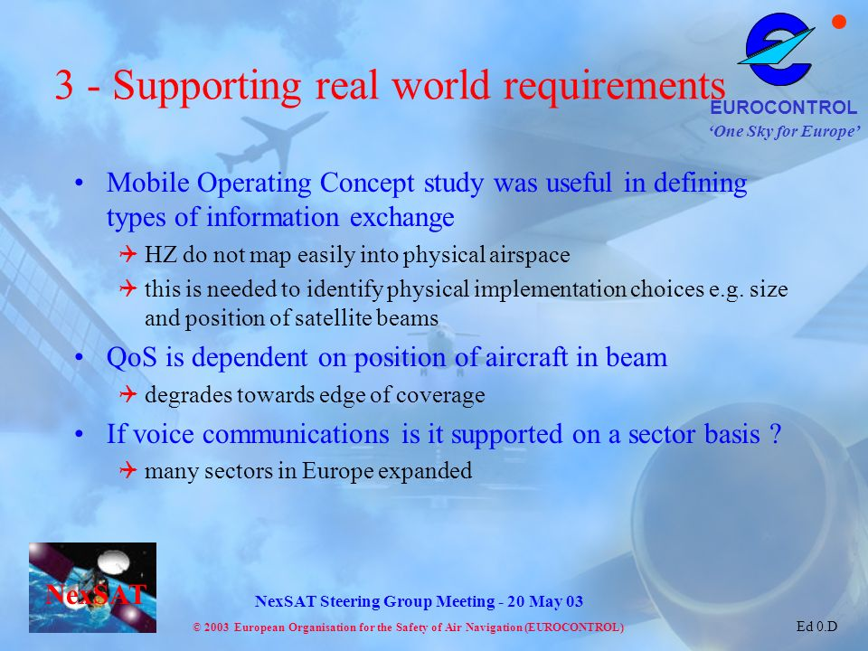 3 - Supporting real world requirements