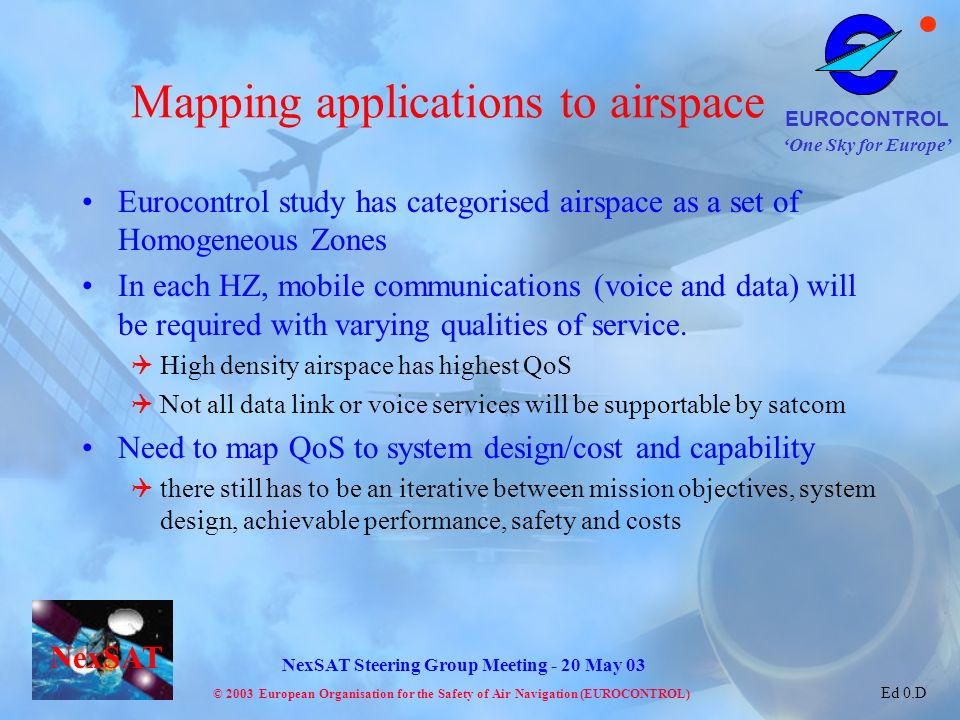 Mapping applications to airspace
