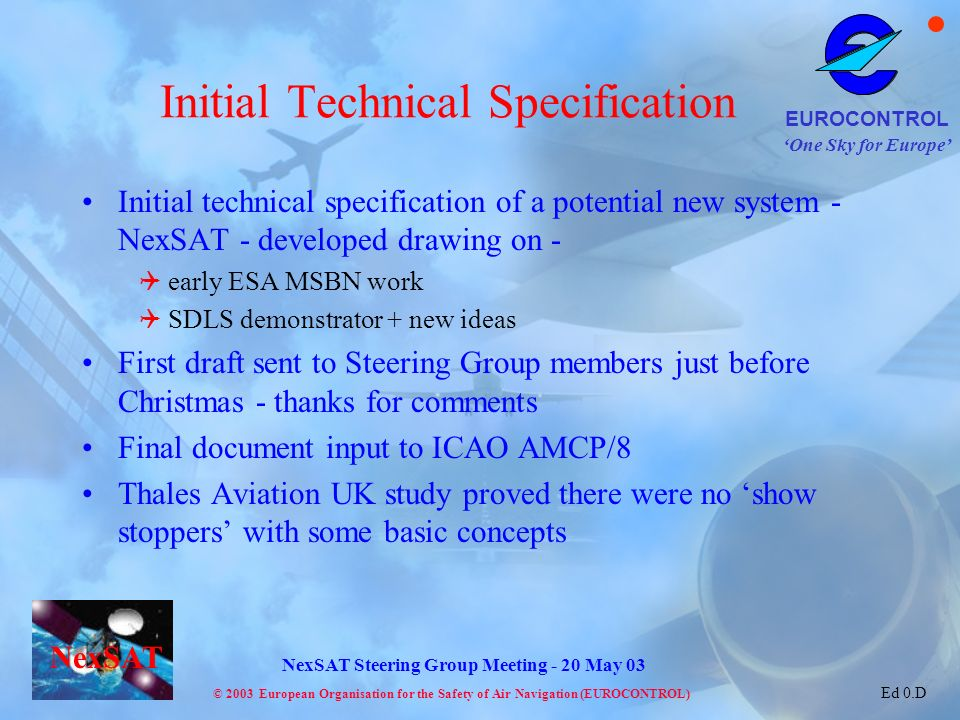 Initial Technical Specification