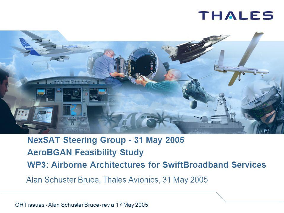 Alan Schuster Bruce, Thales Avionics, 31 May 2005
