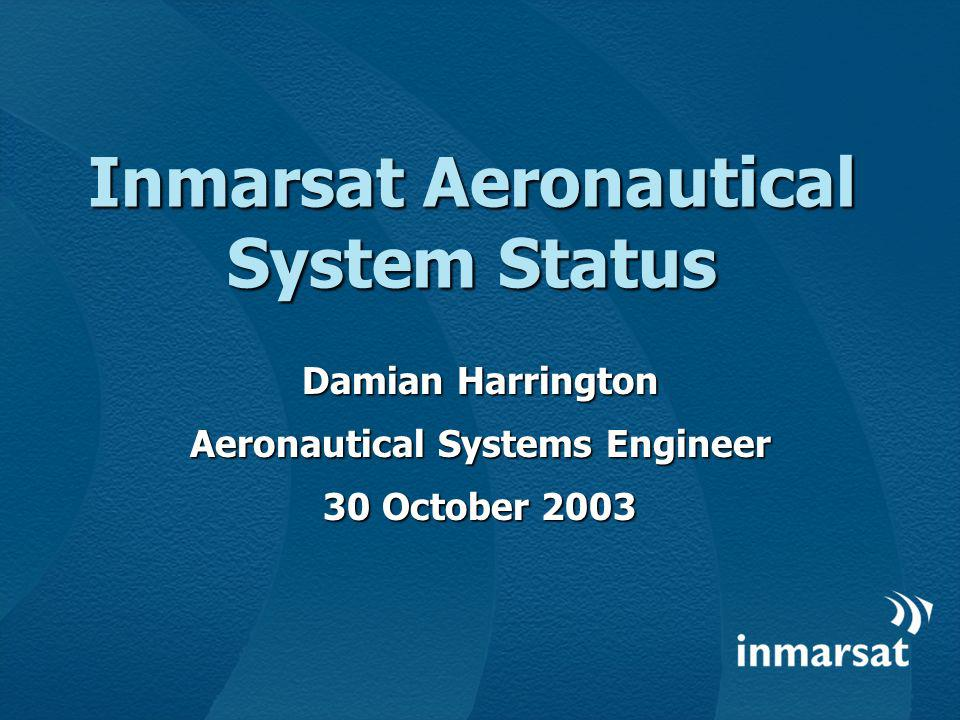 Inmarsat Aeronautical System Status