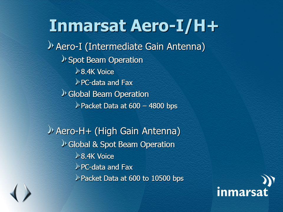 Inmarsat Aero-I/H+ Aero-I (Intermediate Gain Antenna)