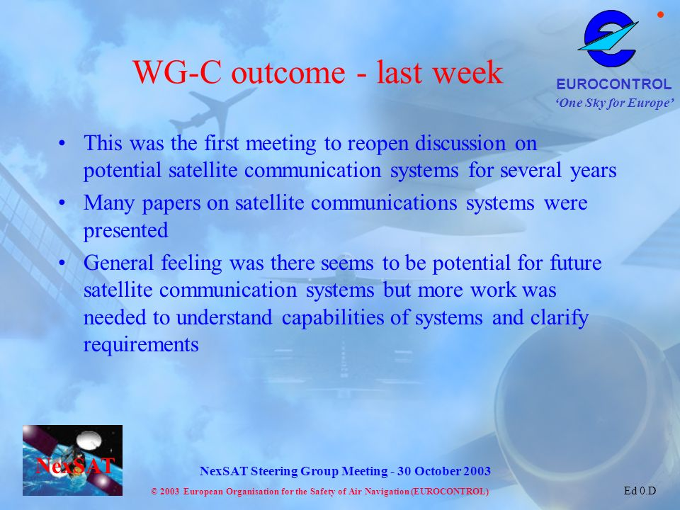 WG-C outcome - last week